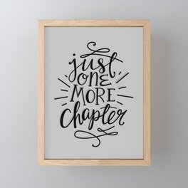 One More Chapter Minimalist Framed Mini Art Print
