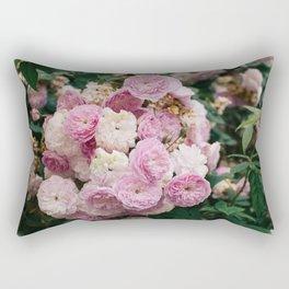The smallest pink roses Rectangular Pillow