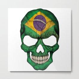Exclusive Brazil skull design Metal Print