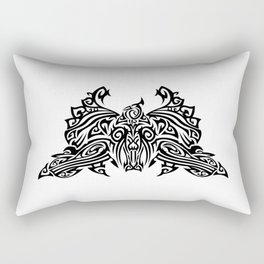 Tattoo with a fantasy bird. Mixed design of two styles: tribal and modern. Rectangular Pillow