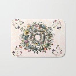 Circle of life- floral Bath Mat