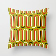 paper clips pattern Throw Pillow