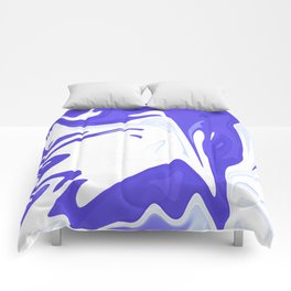 Abstract purple marble pattern Comforters