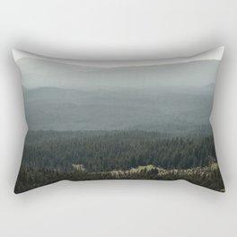 Oregon Mountain Forest Rectangular Pillow