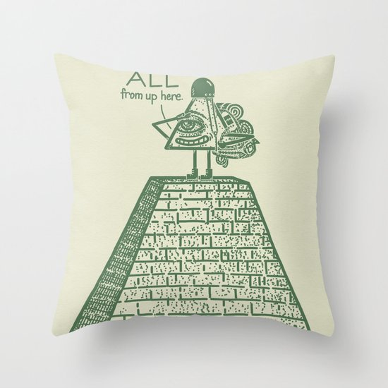 I See ALL Throw Pillow