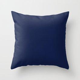 Navy Blue Minimalist Throw Pillow
