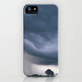 Evening thunder storm and clouds over rural scene. West Acre, Norfolk, UK. iPhone Case