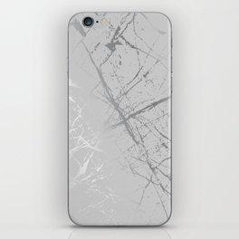 Silver Splatter 089 iPhone Skin