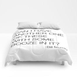Groundhog Day Bill Murray Quote Comforters