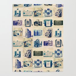 Vintage Camera Collection Poster