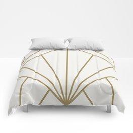 Diamond Series Sun Burst Gold on White Comforters