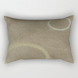Two Circles - Modern Art - Abstract - California Cool - Popular Painterly - Law Of Attraction Rectangular Pillow