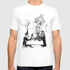 Tea For Four White Mens Fitted Tee MEDIUM