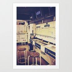 Gambling corner Art Print