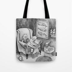 Whale Reader Tote Bag