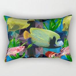 exotic fish in the underwater world Rectangular Pillow