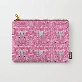 Pink and Blue Abstract Unicorn Psychedelic Print Carry-All Pouch