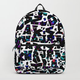 graffiti letters alphabet - graffiti pattern ABC 1 Backpack