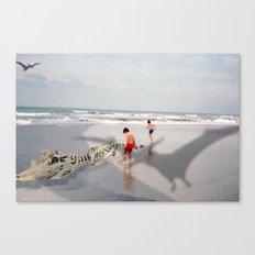 THE BEACH-Suburban Monster Series Canvas Print