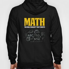 Funny Math Shirts Great Math Gift Math Counts With Equations Hoody