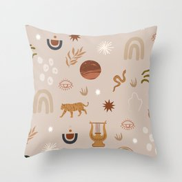 Composition of pretty Doodles #shapeart #digitalart Throw Pillow