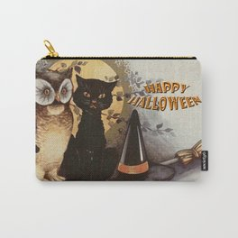 Owl and Cat Halloween Carry-All Pouch