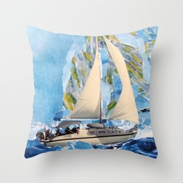 They Sailed the Atlantic Throw Pillow