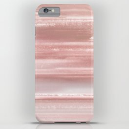 Geode Crystal Rose Gold Pink iPhone Case