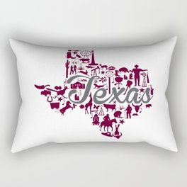 Texas A&M Landmark State - Maroon and Gray Texas A&M Theme Rectangular Pillow