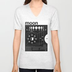 Phases of the Moon infographic Unisex V-Neck