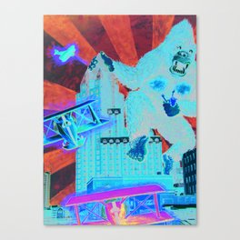 Milwaukee vs. the Super Ape Canvas Print
