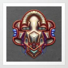Summer Totem Red Art Print