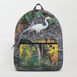 Great Egret at Water's Edge Backpack