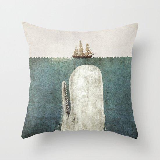 The Whale - vintage option Throw Pillow