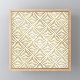 Elegant golden diamond palm art deco design Framed Mini Art Print