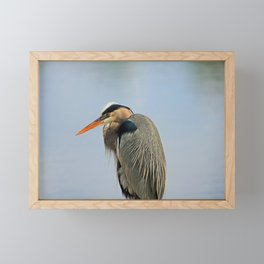 Heron in the Slough III Framed Mini Art Print
