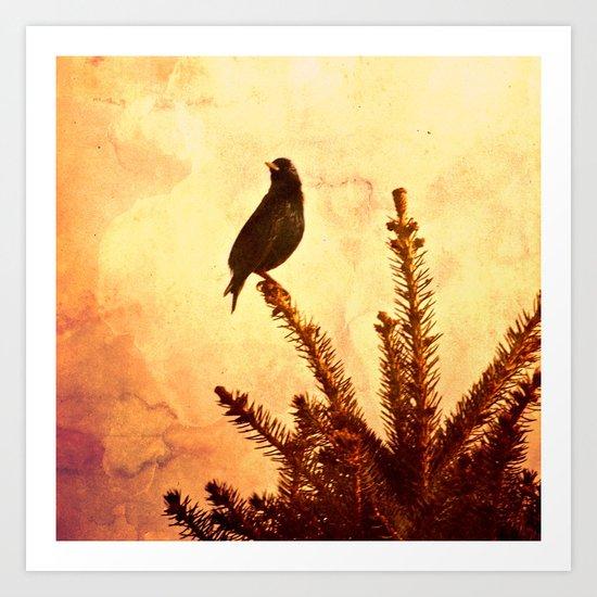 Gothic Bird Art Print