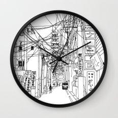 Osaka - downtown street Wall Clock