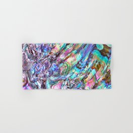 Shimmery Rainbow Abalone Mother of Pearl Hand & Bath Towel
