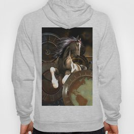 Steampunk, awesome horse Hoody
