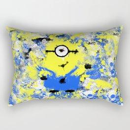 Splatter Painted Minion  Rectangular Pillow