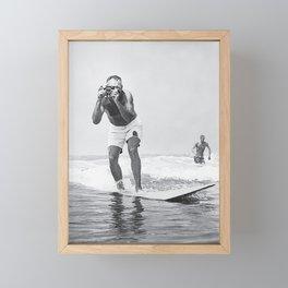 The Surfing Photo Framed Mini Art Print