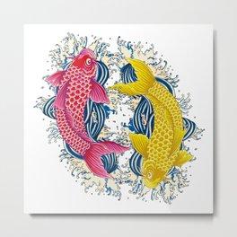 "Japanese lucky charm ""carp"" Metal Print"
