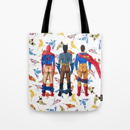 Super Hero BUTTs   It's a bird, it's a plane, it's... a booty Tote Bag