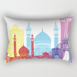 Tehran skyline pop Rectangular Pillow