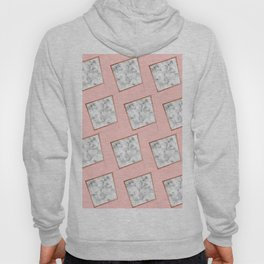 Pink and white marble Hoody