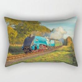 Mallard Steam Locomotive Rectangular Pillow