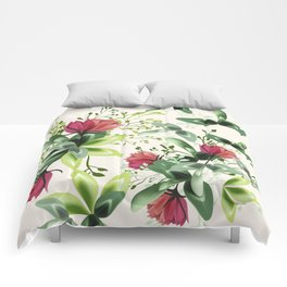 Fashion textile floral vector pattern with rustic clover flowers Comforters