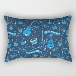 The Spirit of Jazz Pattern Rectangular Pillow