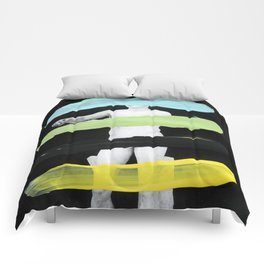 Untitled (Finger Paint 8) Comforters